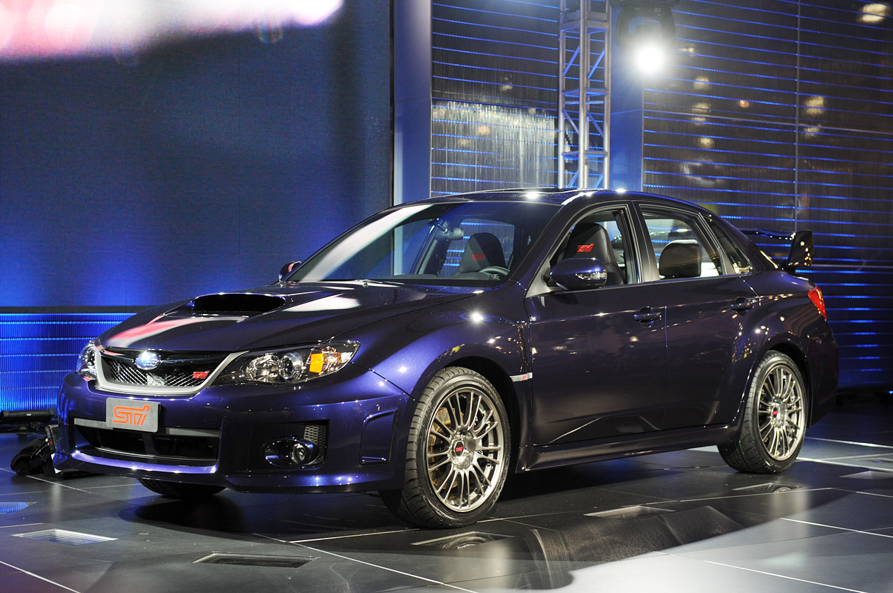 Below: The 2011 Subaru WRX